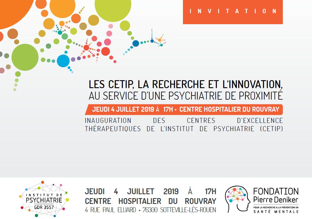 Inauguration des Centres d'Excellence Thérapeutiques de l'Institut de Psychiatrie