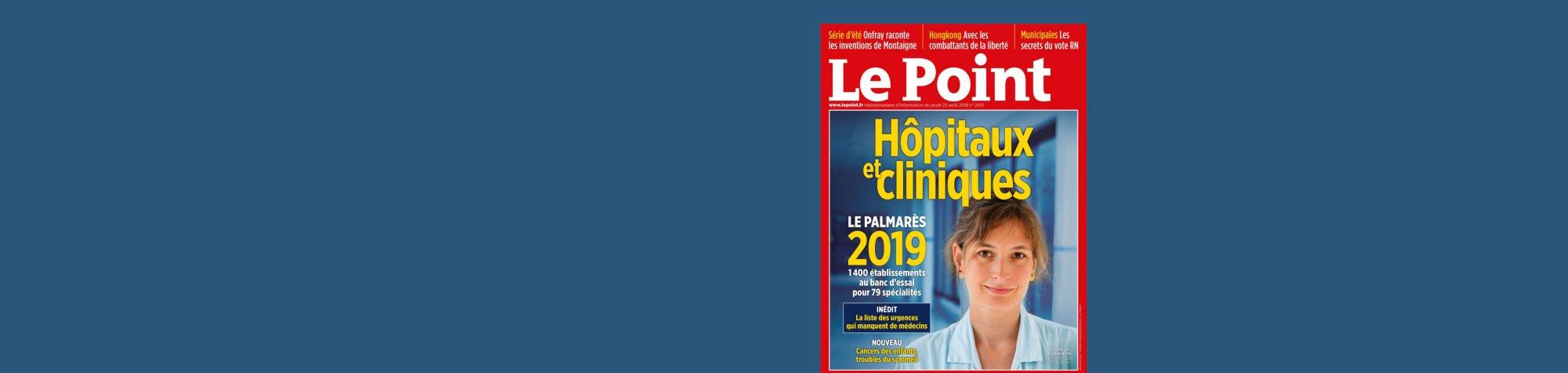 Magazine Le Point : Le CHR bien classé au palmarès des hôpitaux et cliniques